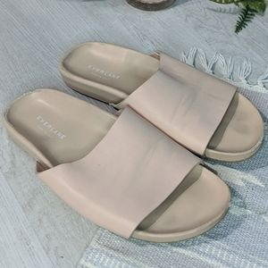 Everlane Blush Nude Pink Form Leather Slides